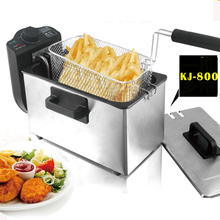 Buy 3L single-cylinder fryer fryer 2000W smokeless stainless steel fryer commercial household Electric fryer 1pc for $79.50 in AliExpress store