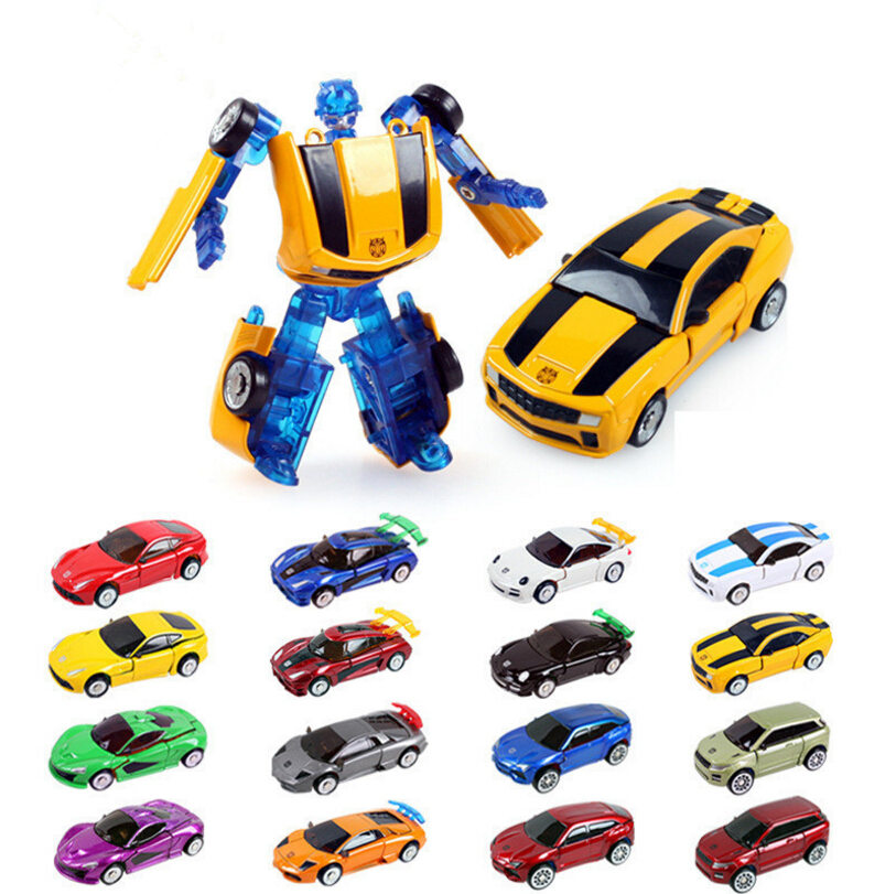 New Arrival High Quality 1:64 Car Model Transformation Car Robots Classic 8pcs / Set 16 styles Best Gift for Children Toys(China (Mainland))