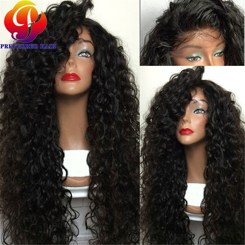 Headband Wigs for Black Women Deep Curly Heat Resistant Synthetic Wigs Synthetic Lace Front Wigs With Baby Hair Free Shipping(China (Mainland))