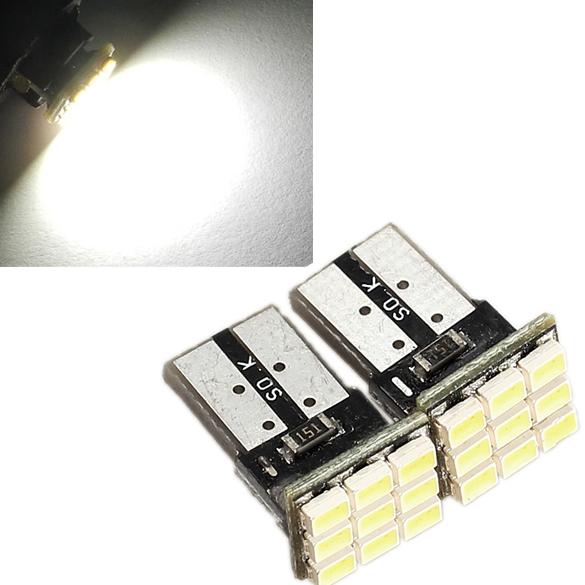 2 x T10 194 168 W5W 9-SMD Car White LED Light DC 12V License Plate Lamp ES88(China (Mainland))