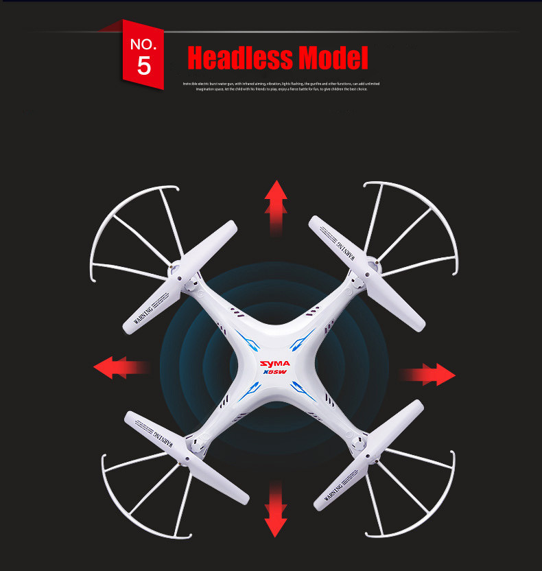 Hot Sales SYMA X5SW FPV Drone with Camera X5C Upgrade Original X5SW-1 HD 2.0MP WIFI RC drone 2.4G 6-Axis drone with 5 batteries