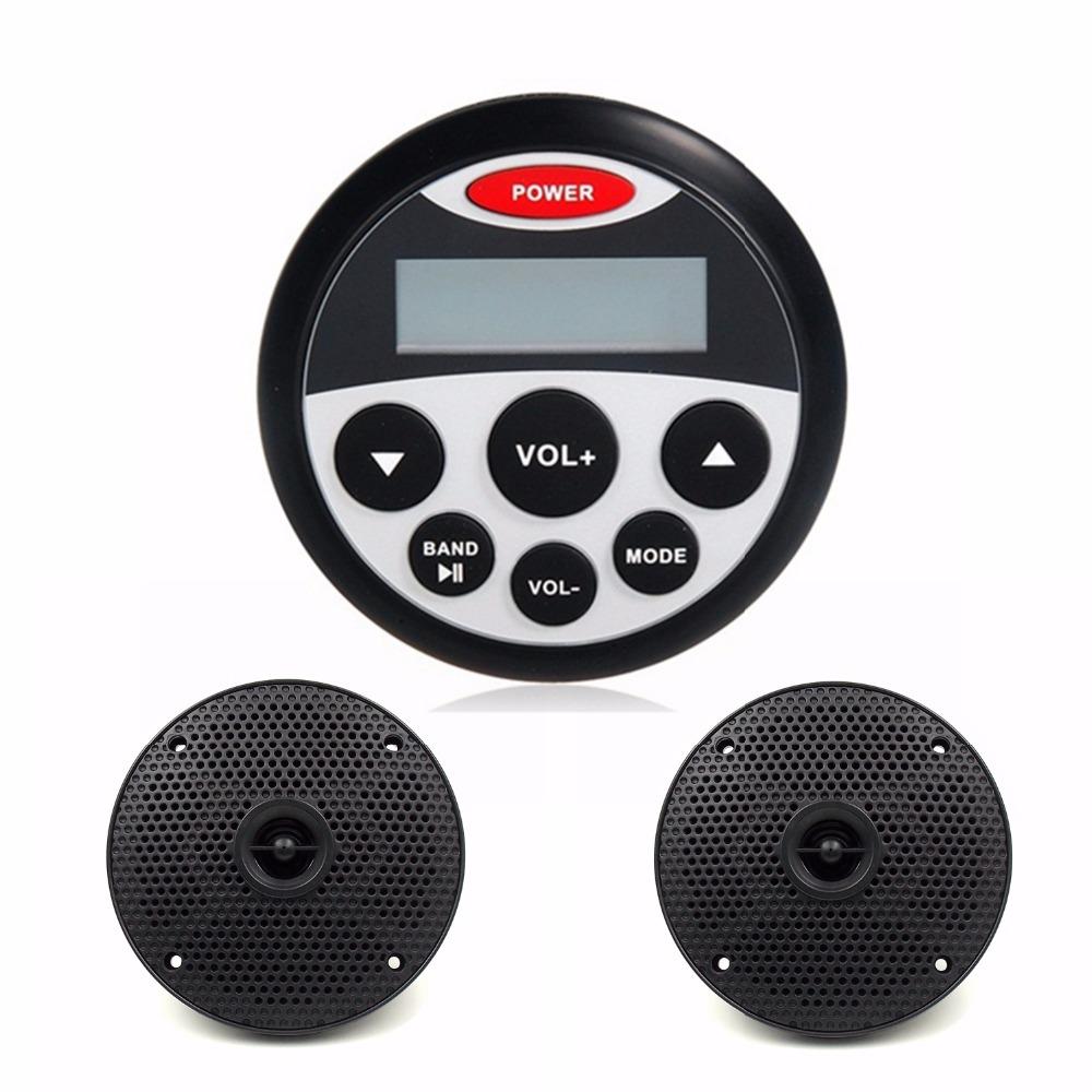 "Waterproof Marine Stereo Receiver 1.9"" MP3 Player for ATV Motorcycle / Yacht /Sauna Room/ SPA + 4 inch Waterproof Marine Speaker(China (Mainland))"