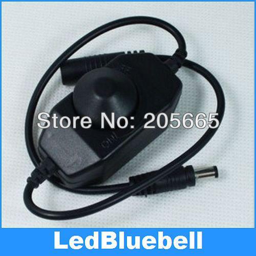 5pcs Mini LED Brightness Adjust Switch Dimmer Controller for 3528 5050 5630 7020 Single Color LED Strip Light 12V - 24V(China (Mainland))
