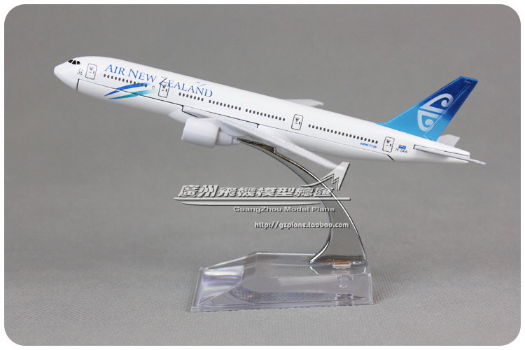 16cm New Zealand B777 200 Airlines Alloy Airplane Model Airways Plane Model Diecast Souvenir Collections Free Shipping(China (Mainland))