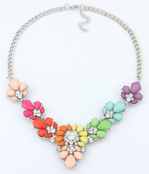 Jewelry Fashion 2014 New 3 Colors Crystal Statement Necklace Choker necklaces & pendants For Woman 2015 New Gift(China (Mainland))