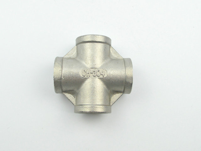"304 SS Cross, four-way connection - 1/2"" Female BSP Beer Brew Fitting, Brewer Hardware, Hombrew Pipe fitting(China (Mainland))"