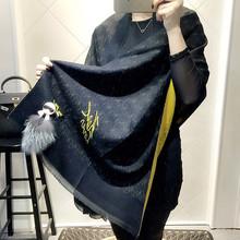 Luxury brand scarfs Italy Big Size Brand Cashmere Scarves Karl Desinger Fur Bandana Poncho Blanket Pashmina Shawl Winter Echarp(China (Mainland))