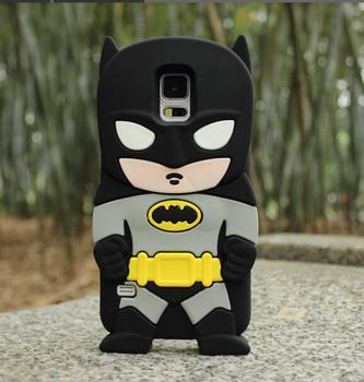 3D Cute Cartoon Batman Soft Silicone Rubber Back Cover Case For Samsung Galaxy S5 i9600