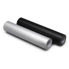 10 * 127 CM 3D en Fiber de carbone vinyle Car Styling voiture autocollants bricolage pièces moule Protection autocollants CT-306