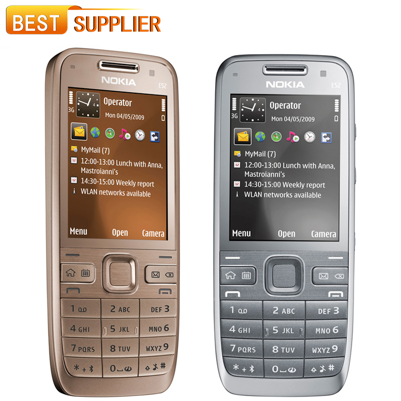 2016 Promotion Sale 480p Color Slim(9mm-10mm) Original Mobile Nokia E52 Unlocked Cell Phone Camera 3.2mp Bluetooth Wifi Gps(China (Mainland))