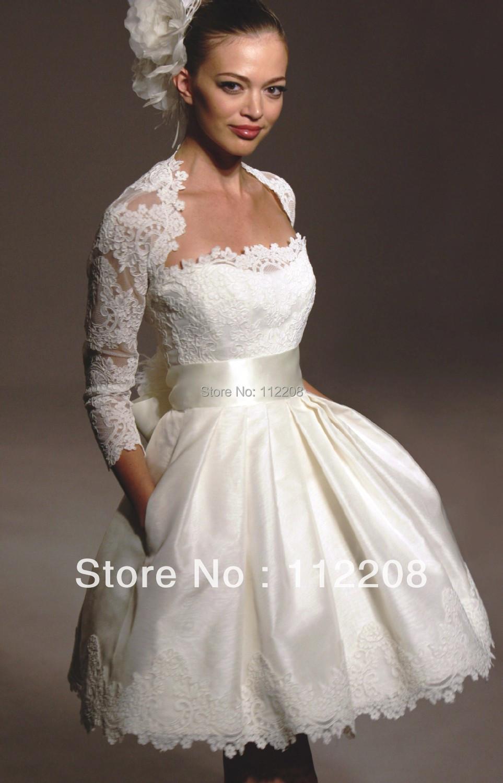 sur mesure robe de bal veste en dentelle robe de mariée courte avec ...