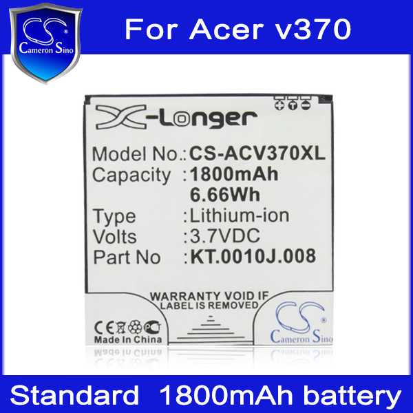 Rechargeable Mobile Phone Battery for ACER Liquid E2 Dou V370 1800mAh replacement batteries,HK brand Cameron Sino(China (Mainland))