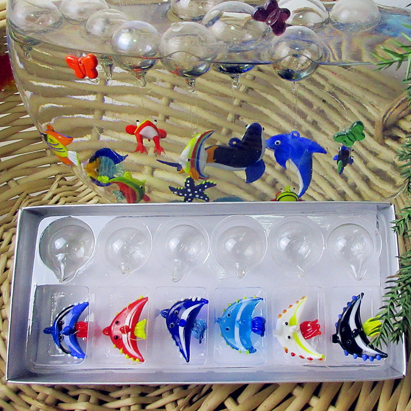 Manufacturer production! Float glass aquarium fish Home Furnishing Hand Blown Glass Figurine of tropical fish(China (Mainland))