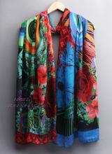 6 Colors Women shawl scarf 2015 New fashion Beach Wear Beach Cover Up Tassel Silk Scarf Wrap Shawls Scarves women(China (Mainland))