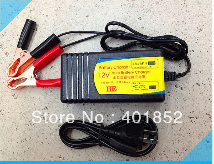 free shipping CCCV Intelligent Floating a three-stage charger 12V Lead Acid Battery Charger CE CCC IP65 standard(China (Mainland))