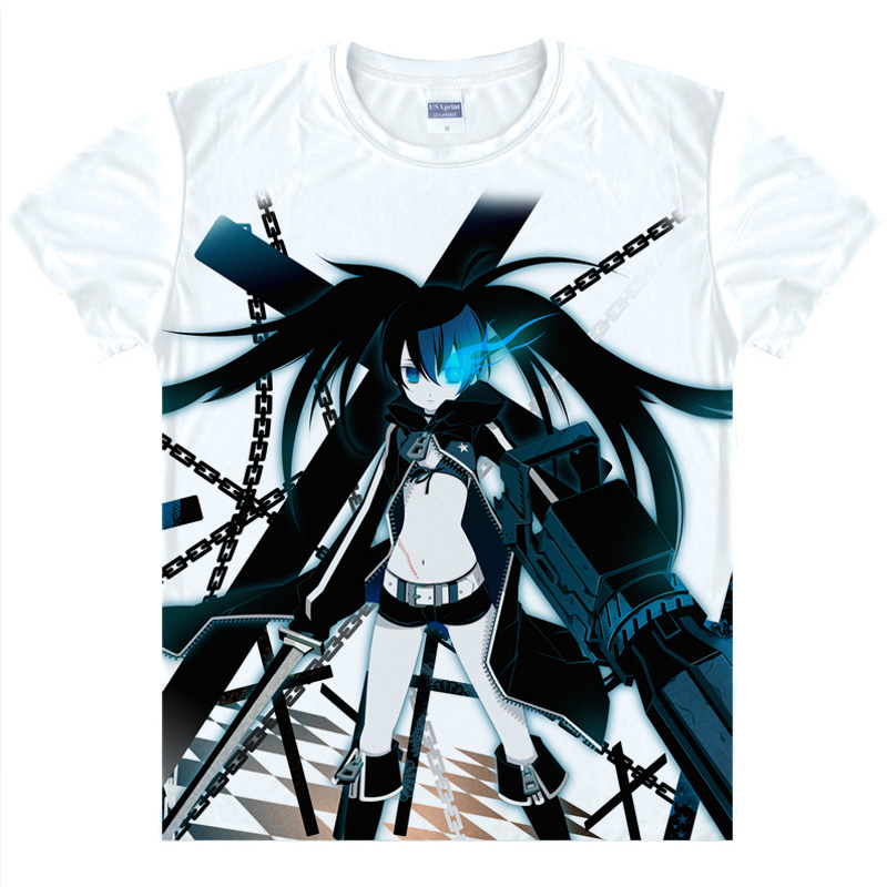 Black Rock Shooter T shirts kawaii Japanese Anime t shirt Manga Shirt Cute Cartoon Mato Kuroi