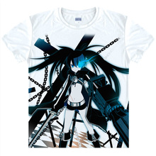 Black Rock Shooter T-shirts kawaii Japanese Anime t-shirt Manga Shirt Cute Cartoon Mato Kuroi Cosplay shirts 37166799598 tee 335