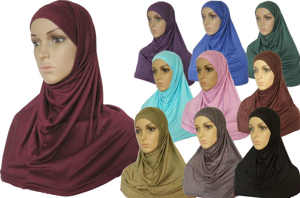 New Style jersey 2 Piece Amira Hijab Muslim scarf 2pc001(China (Mainland))