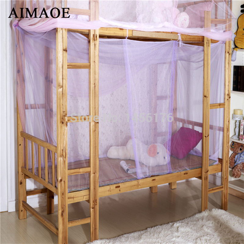 Students dormitory bed nets mosquito nets square top for Rectangle bed canopy