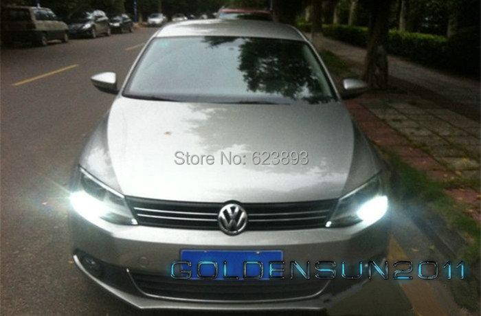 Free shipping, 2x No Error LED DRL Driving Daytime Running Day Fog Lamp Light For VW Sagitar Jetta MK6 2011-2013(China (Mainland))