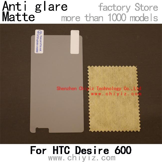 matte anti glare screen protector protective film for HTC Desire 600 Dual Sim Desire 606W 608T