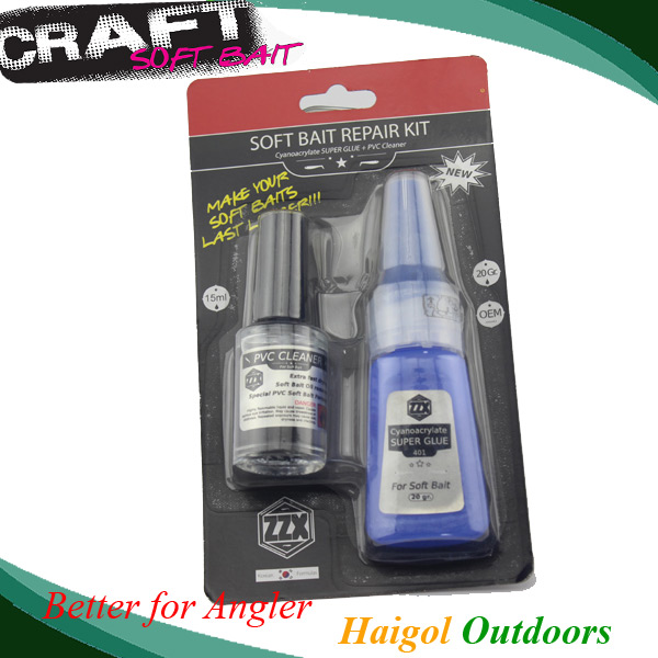 Super glue for fishermen, used for jig head fixing or choses the soft lure rips(China (Mainland))