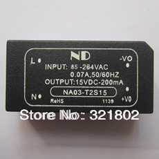 220V to 15V AC-DC converter NA03-T2S15 RoHS compliant 3W Free shipping<br><br>Aliexpress