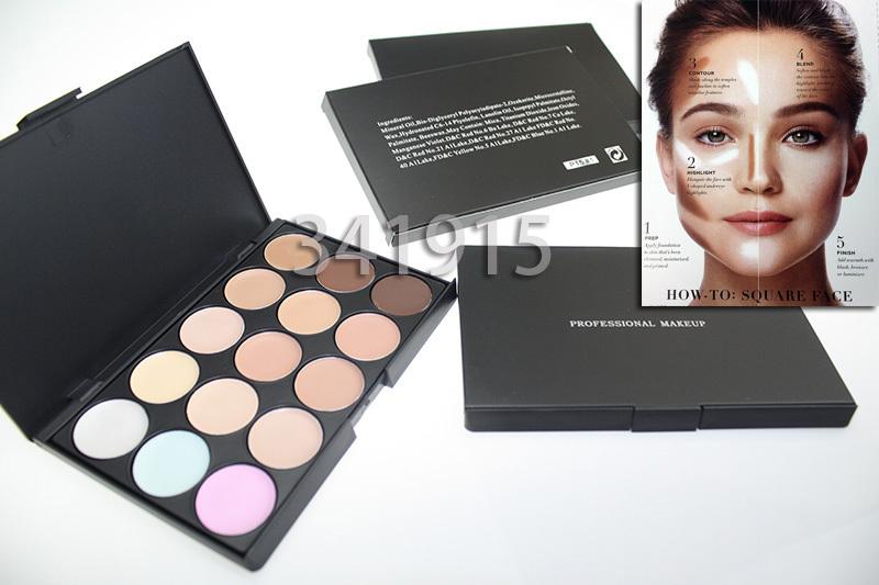 1PC Professional 15 colors Concealer Palette contour palette Face Cream Care Camouflage Makeup base Cosmetics Free