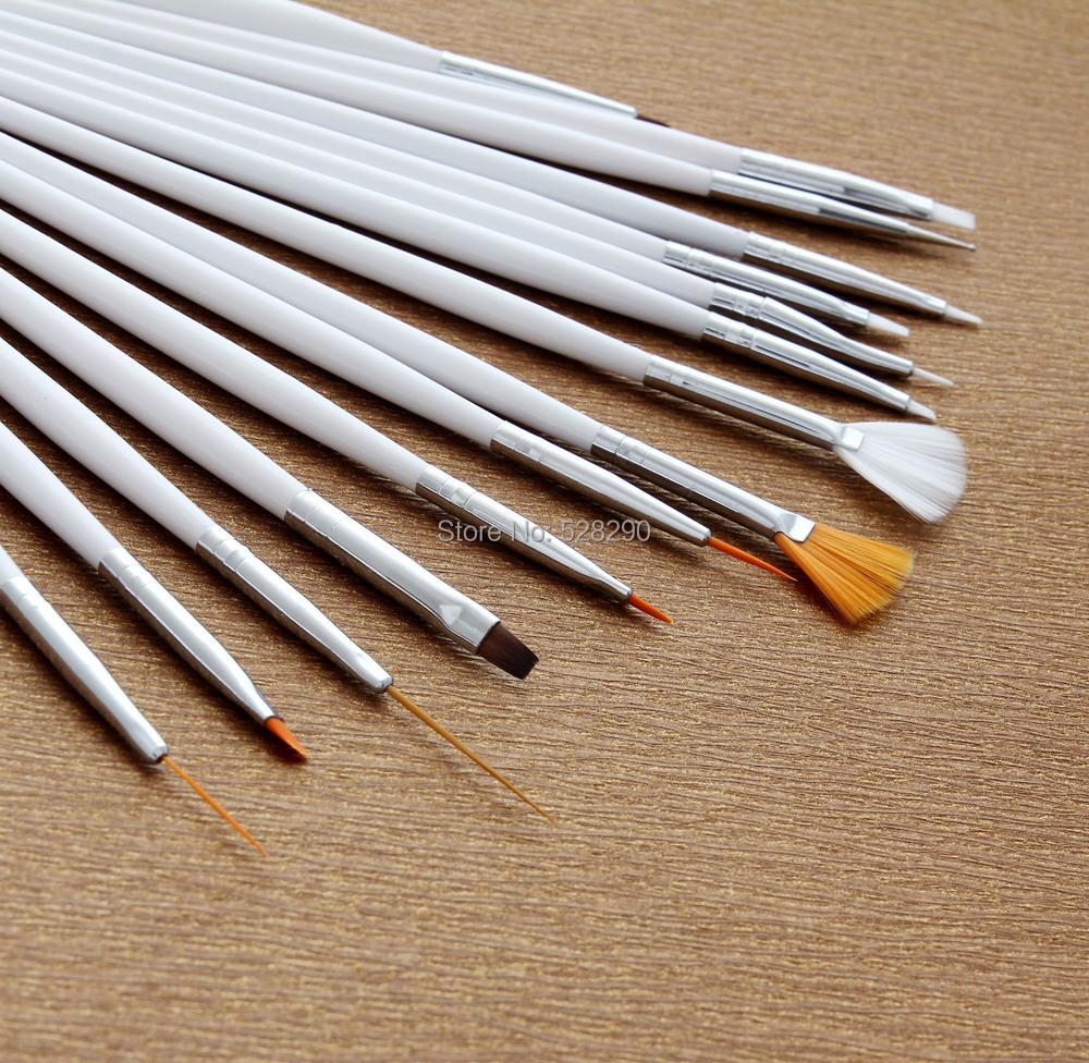15pcs Tiny Liner Drawing Painting Pen Brush Acrylic Nail