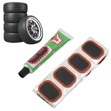 High Quality 48pcs Bike Tire Bicycle Kit Patches Repair Glue Tyre Tube Rubber Puncture(China (Mainland))
