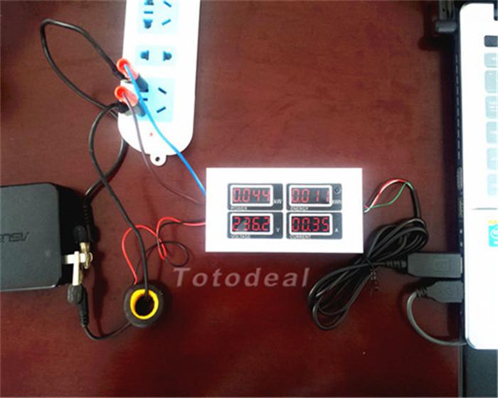 Гаджет  New 100A AC Digital LED Power Meter Monitor Voltage KWh Time Watt Volt Ammeter None Инструменты