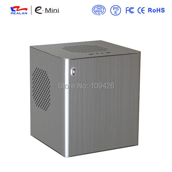 Realan D3 Silver Mini Desktop Computer, Aluminum Mini ITX Gaming Desktop PC Case For Mini ITX Motherboard And ATX Power Supply(China (Mainland))