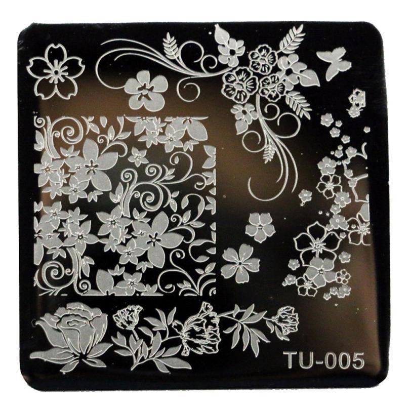 Newly Design 1pcs/lot DIY Blossoms Flowers Nature Nail Art Image Stamping Plates Manicure Template 160615(China (Mainland))
