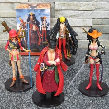 Anime One Piece Film Z PVC Action Figure Toys Dolls Zoro Sanji Nami Robin  Model Collections 15cm 4pcs/set OPFG182