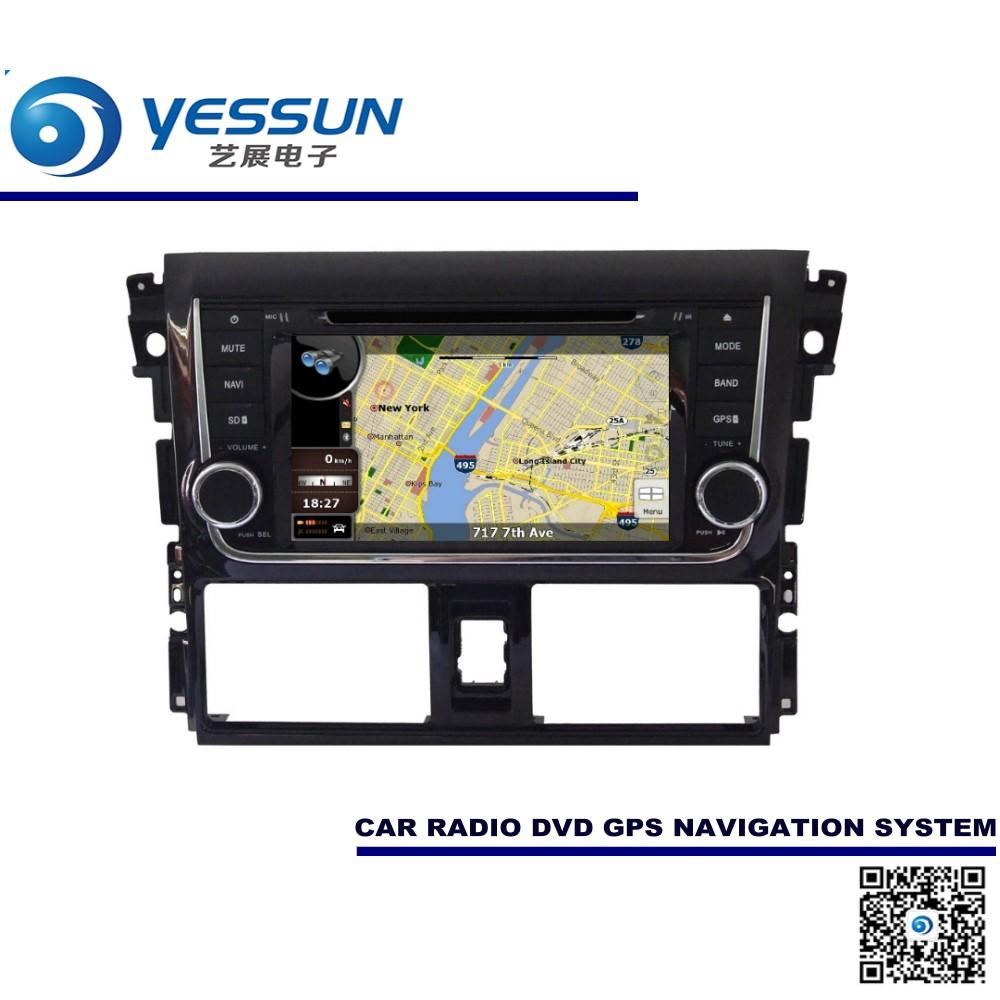 For toyota vios yaris sedan 2013 2015 car dvd player gps navigation audio video