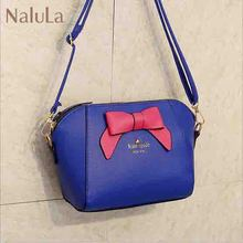 NALULA ! free shipping! 2015 newest women messenger bags lady's summer handbag women bow leather handbags in stock LS5960na(China (Mainland))