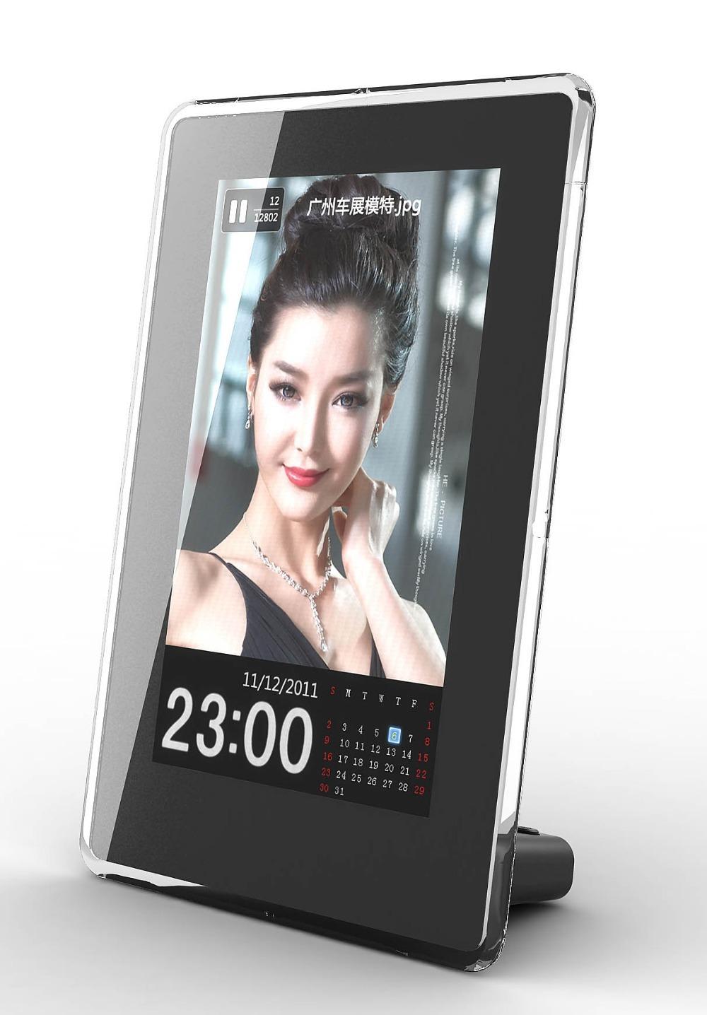 New Fashion 6 inch Vertical HD Digital Photo Frame with Clock ...