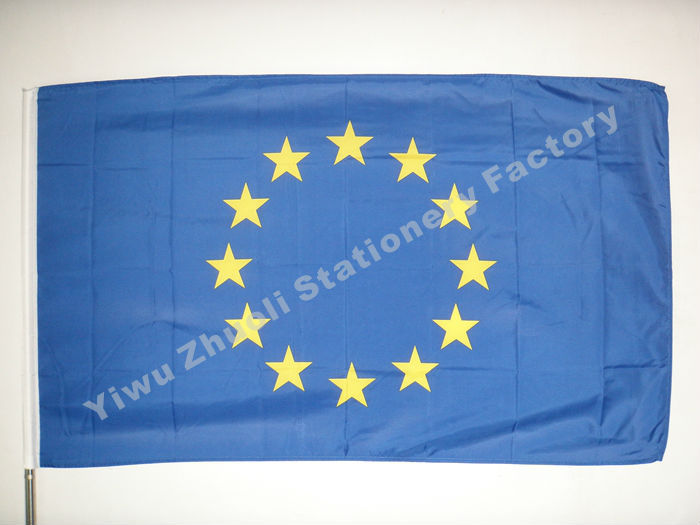 Flag Of Europe 150X90cm (3x5FT) 120g 100D Polyester Double Stitched High Quality Free Shipping(China (Mainland))
