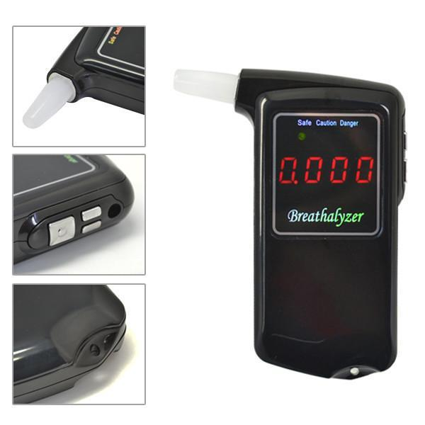 1 pieces Portable Professional Police Electronic Digital LCD screen Display breathalyzer Alcohol Tester(China (Mainland))