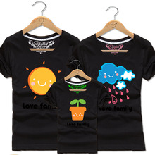 Mother Father Baby Matching Clothes Sun Rain and Seed Cotton Short Sleeve T Shirts Family Clothing Outfit