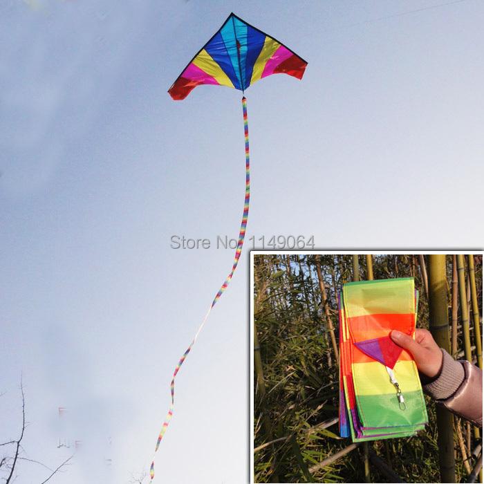 free shipping high quality 2pcs/lot 15m rainbow kite tails ripstop nylon fabric kite weifang kite factory hcxkite windsocks(China (Mainland))