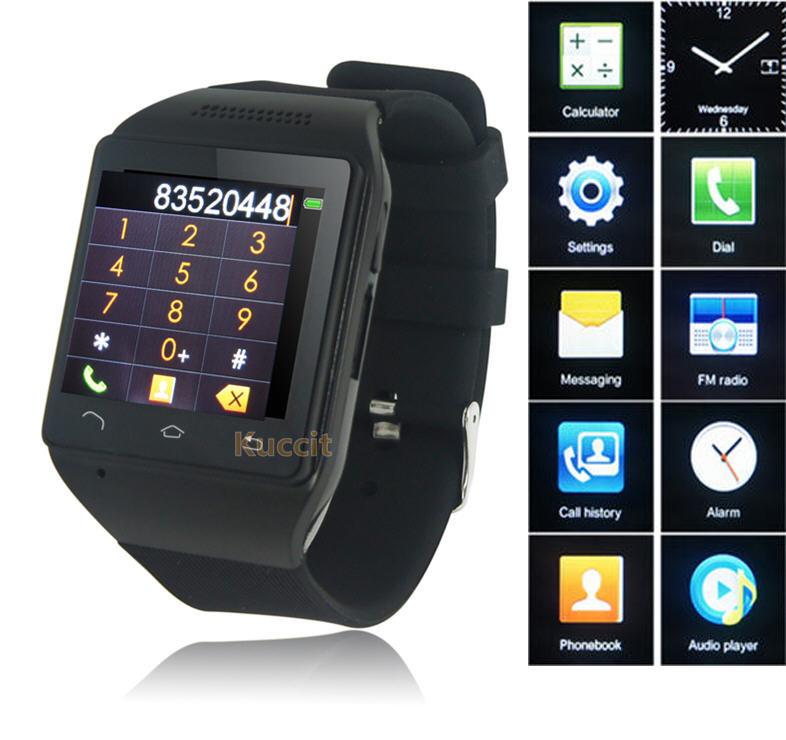 "Quad Band GSM Original S18 Smart Watch Phone 1.54"" Touch Screen Bluetooth SmartWatch Mobile Phone FM Radio Russian Greek Czech(China (Mainland))"