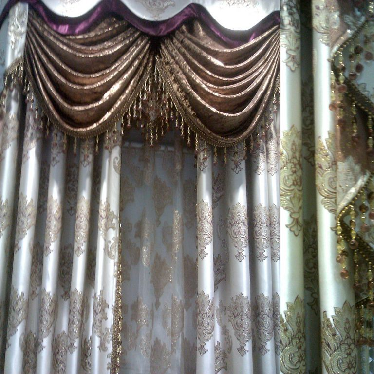 New Lace Tulle Crystal Curtain Home Window Curtains The Curtain Luxury Blinds Finished Product