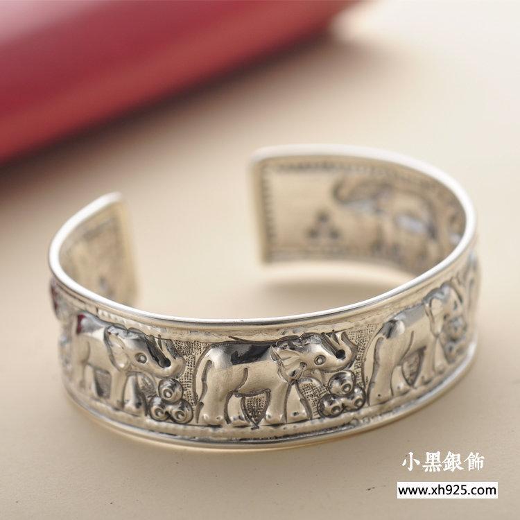 Здесь можно купить  Black silver jewelry wholesale 925 sterling silver jewelry elephant opening relief Bracelet xh042902w Black silver jewelry wholesale 925 sterling silver jewelry elephant opening relief Bracelet xh042902w Ювелирные изделия и часы