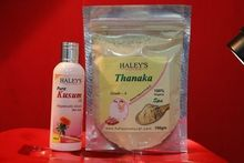 100 gm Thanaka Powder & 100 ml kusumba oil for permanent hair removal Face Mask free shipping(China (Mainland))