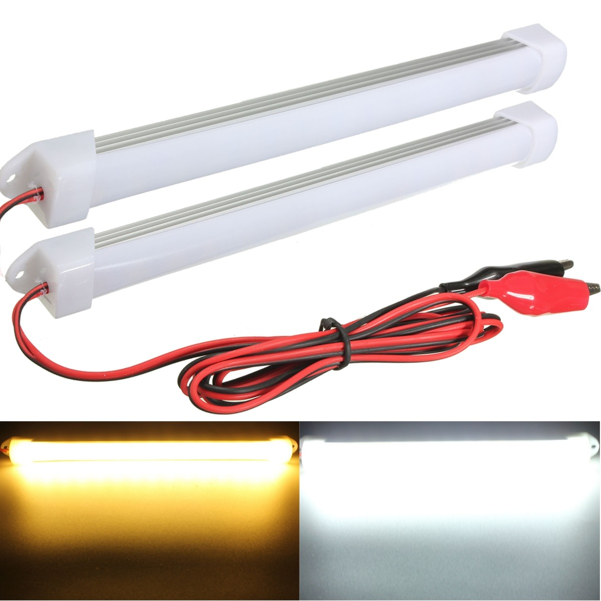 2015 new 2pcs 12v led car interior light bar tube strip. Black Bedroom Furniture Sets. Home Design Ideas