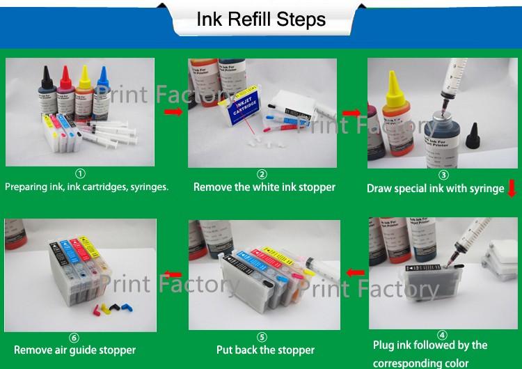 ink refill steps