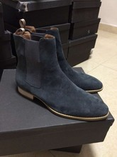 Exclusive customized MID legth Classical chelsea SUEDE Boot IN TAN yeezy casual west men denim shoes(China (Mainland))
