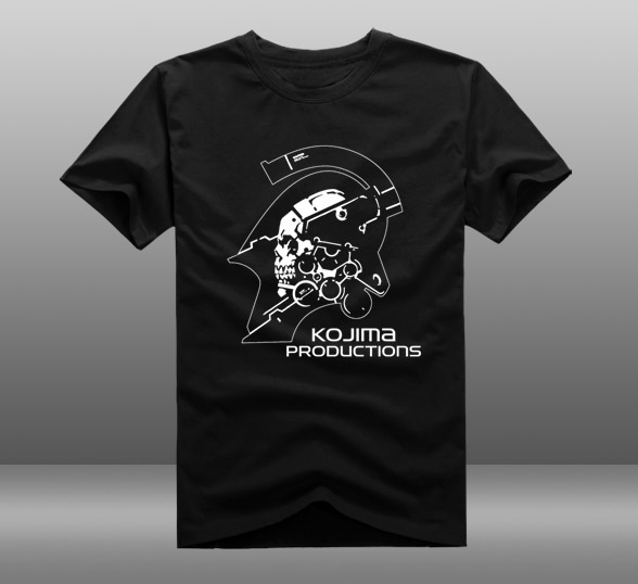Mens Casual 2016 Hideo Kojima Kojima Productions Logo Short Sleeve Cotton O-Neck Printing Pattern T-shirts Tee Shirts(China (Mainland))