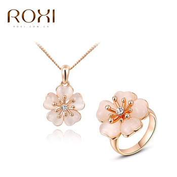 ROXI fashion Clover women party weddings jewelry sets, Austrian crystal,Nickeless jewelry set,wholesale ,best Christmas gifts